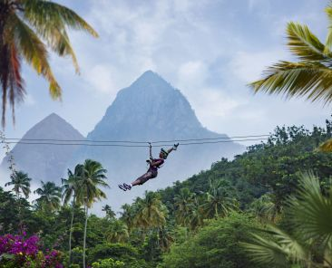 Ziplining in Soufriere is a must-do for adventure travelers Photo Credit Saint Lucia Tourism Authority